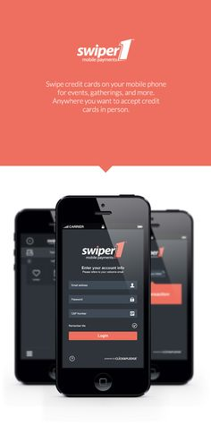 Swiper 1 Mobile App UI by Gabriel Ciprian Magda, via Behance