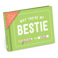 Knock Knock Why You're My Bestie Journal - is a fill-in-the-blank book gift. Cute best friend gifts for BFFs old and young alike!