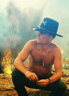"""I love the smell of napalm in the morning.""    Robert Duvall in Apocalypse Now"