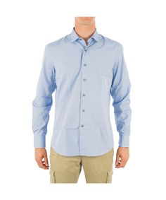 LANVIN Lanvin Men'S Rmsi0101S00107Per20 Light Blue Cotton Shirt'. #lanvin #cloth #dress shirts