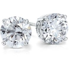 Blue Nile Premier Diamond Earrings in Platinum (2 ct. tw.) ($19,000) ❤ liked on Polyvore featuring jewelry, earrings, accessories, jewels, joyas, blue nile jewelry, platinum jewelry, platinum jewellery, platinum earrings and diamond jewelry