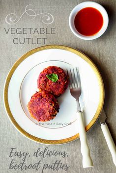 This delicious vegetable cutlet is vegan gluten-free and an easy snack to make even on a weekday! You could enjoy this beetroot cutlet on its own or use it as a patty to make a yummy veggie burger! Best Dessert Recipes, Indian Food Recipes, Appetizer Recipes, Ethnic Recipes, Top Recipes, Easy Recipes, Delicious Desserts, Indian Snacks, Sweets Recipes