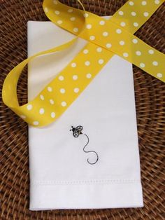 bee napkins, bee party decorations, bee cloth napkins, bee linens