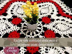 Toalha de mesa renda de bugres Vermelha por JNY Crochê - YouTube