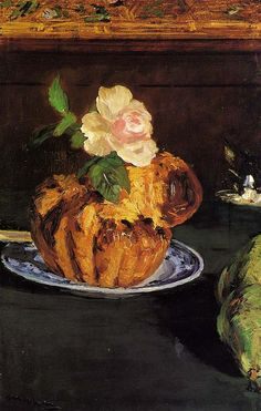 Still Life with Brioche, Edouard Manet.