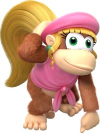 Dixie Kong - Donkey Kong Country Tropical Freeze- her twirly hair allows for a longer jump ( a bit more useful than Diddy)