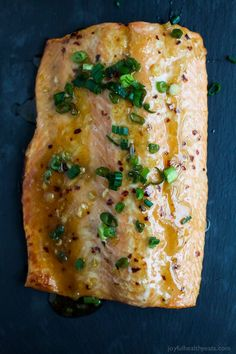 This Sweet Chili Baked Salmon Recipe is high in protein, low in calories, and cooks in only takes 30 minutes! An easy salmon recipe with an Asian twist! Healthy Salmon Recipes, Fish Recipes, Meal Recipes, Recipies, Dinner Recipes Easy Quick, Easy Meals, Salmon Dishes, Seafood Dishes, Sweet Chili