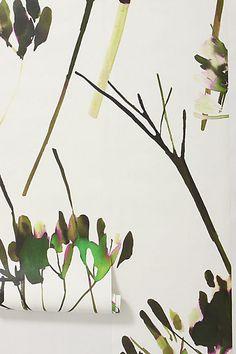Brushstroke Branches Mural #anthropologie