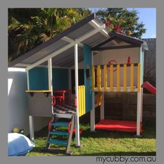 How fantastic does this cubby look? Great decorating job, the kids will love this! #Mycubby #cubby #cubbyhouse