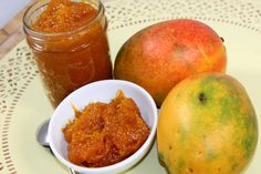 Mangaad is the Goan name for mango jam. Mangaad is prepared in almost every Goan home during mango season. Mango jam is sweet and delicious. It can be eaten with bread at breakfast, as a snack, or as a dessert topping. Mango Jam, Mango Pulp, Goan Recipes, Cooking Recipes, Pickle Mango Recipe, Chutney Recipes, Vegan Gluten Free, Goan Food, Appetizers
