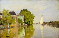 Houses on the Achterzaan, 1871 ~ Claude Monet