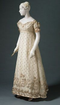 Evening Dress  1817, French, Made of silk, satin, and wool