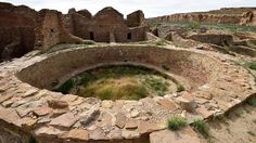 The ruins of Pueblo del Arroyo house built by Ancient Puebloan People at Chaco Culture National Historical Park, New Mexico, a park renown for its ancestral Pueblo ruins that date between 850 and 1260 A.D. (MLADEN ANTONOV/AFP/Getty Images)