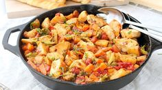 One-Pot Chicken and Vegetable Skillet — The start of spring calls for fresh and easy dinner ideas, like this light and satisfying skillet supper.