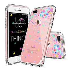 Amazon.com: iPhone 7 Plus Case, iPhone 7 Plus Cover, MOSNOVO Colorful Confetti Pattern Clear Design Printed Plastic Hard Back Case with Soft TPU Gel Bumper Protective Case Cover for Apple iPhone 7 Plus (5.5 Inch): Cell Phones & Accessories