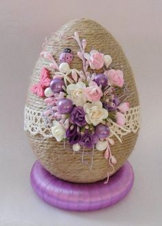 29 Ideas For Crochet Hat Spring Easter Eggs Spring Projects, Easter Projects, Spring Crafts, Easter Egg Crafts, Easter Eggs, Yarn Crafts, Diy And Crafts, Crochet Flowers, Hat Crochet