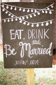 Blackboard Wedding Decorations - wedding signs