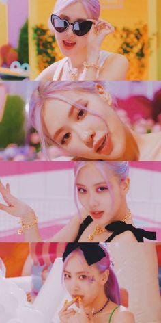 Kpop Girl Groups, Korean Girl Groups, Kpop Girls, Black Pink Songs, Black Pink Kpop, Lisa Blackpink Wallpaper, Rose Wallpaper, Yg Entertainment, Rose Ice Cream
