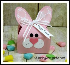 Easter bunny bag youtube easter pinterest easter bunny stampingwithamore adorable bunny treat holder negle Gallery