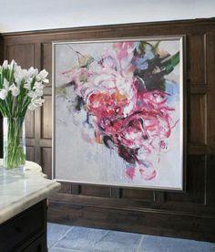 Abstract Flower Oil Painting #LX37A, Floral art canvas painting, hand painted painting on canvas by CZ Art Design @CelineZiangArt