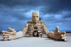 An awesome art piece out in the playa. :') #burningman #travel #art