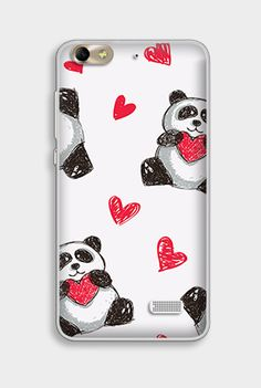 #panda #case #fantastic #hearts