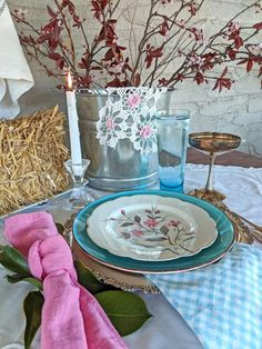 Thrift the Look: A Garden Inspired Table Setting – Audrey Would!