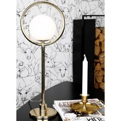 Pöytävalaisin Saint messinki 139,- #pöytävalaisin #valaistus #hemtex Decor, Table, Lamp, Furniture, Round Mirror Bathroom, Home Decor, Mirror Table, Mirror
