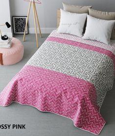 ruzovy-prehoz-na-postel-obojstranny Hotel Bed, Bedding Sets, Comforters, Blanket, Luxury, Pink, Furniture, Design, Home Decor