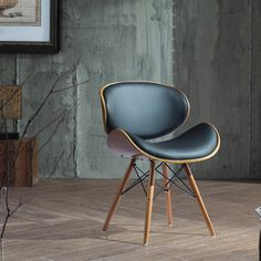 Corvus Rockland Walnut and Black Color Finished 30-inch Chair | Overstock.com Shopping - The Best Deals on Living Room Chairs