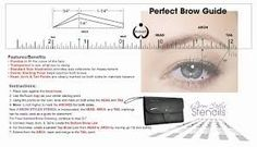 Image result for eyebrow measuring tools