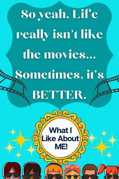 """""""Life really isn't like the movies. Sometimes, it's better"""" In What I Like About Me by Jenna Guillaume, Maisie Martin and her family are off on the yearly beach vacation and Ms. Singh, overbearing English teacher, has assigned daily journal entries. Maisie journals as she meets new friends, takes on new challenges, royally messes up with her crush, and learns to be more comfortable with her own body. Check out our full review of the book and our What I Like About Me discussion questions… Movie Quotes, Book Quotes, Good Books, My Books, Best Quotes From Books, Body Check, Literature Quotes, Meeting New Friends, Daily Journal"""