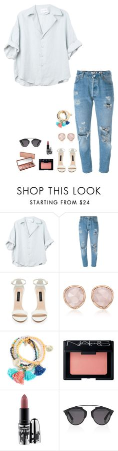 """Untitled #704"" by h1234l on Polyvore featuring Levi's, Monica Vinader, NARS Cosmetics, MAC Cosmetics, Urban Decay and Christian Dior"