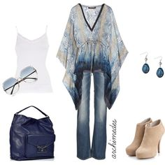 bohemian blues | Bohemian Blues, created by archimedes16 on Polyvore