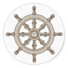 sold a sheet of Buddhist dharma wheel symbol stickers
