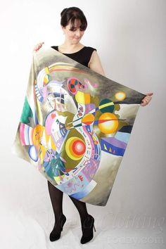 Silk Scarf Abstract World by Kandinsky