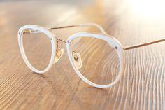 Nouvelle Ligne Vintage Brille Gold Weiß hipster von ClassicalSense