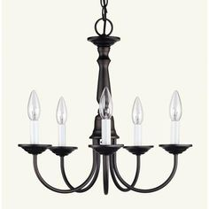 Illumine - Providence 5 Light Bronze Incandescent Chandelier - CLI-LTG6030-07 - Home Depot Canada $90.53