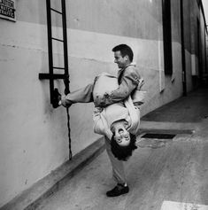 17 year old Elizabeth Taylor and Montgomery Clift via Time Life