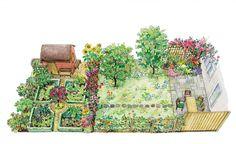 Die ländliche Variante ist genau das Richtige für Hobbygärtner, die ihr eigenes Obst und Gemüse anbauen. Dank kluger Raumaufteilung und ansprechender Gestaltung kommt auch die Optik nicht zu kurz