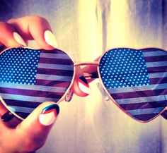 40084c75245 Getting in the spirit of 4th of July!  sunglasses  mani  nails  redwhite