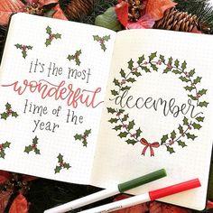 Bullet Journal - оформление декабрь 2019 - Kate Vasilkina Bujo, Bullet Journal Christmas, Bullet Journal 2020, Homemade Birthday Cards, Agenda Planner, Perfect Planner, Happy New Year 2020, Journal Prompts, Bullet Journal Inspiration