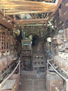 Look through the salvaged German U-Boat U-524