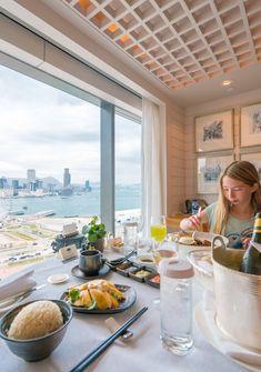 Room service at Mandarin Oriental, Hong Kong - get Hainanese chicken rice and/or nasi goreng.