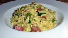 Dzisiejsze spotkanie z włoskim salami - rizotto z salami i mlekiem kokosowym