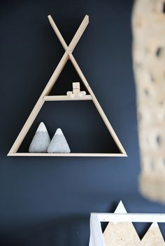 Scandinavische sferen in een appartement in Haarlem - Roomed styling tipi shelf: rock that label Baby Boy Rooms, Baby Room, Cowboy Bedroom, Fashion Room, Kidsroom, Shadow Box, Room Inspiration, Kids Bedroom, Floating Shelves