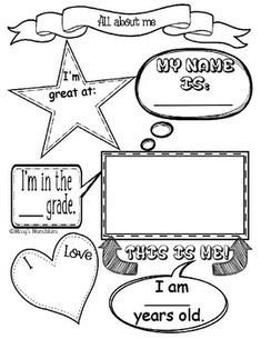 185 best all about me worksheet images on Pinterest in