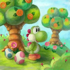 Yarn Yoshi by Cortoony.deviantart.com on @DeviantArt