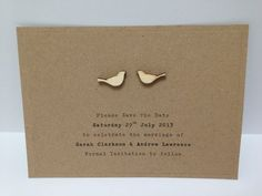 Sample Save the Date love birds, birdcage, vintage, shabby chic, rustic wedding | eBay
