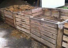 Horse farm compost bin - first year trying this method. We have perforated PVC pipe through the center and urea applied in layers due to the high wood content.
